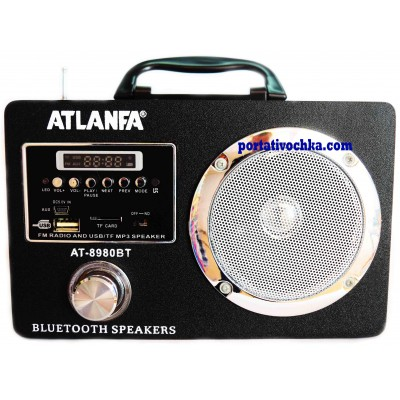 Bluetooth колонка ATLANFA AT-8980BT Радиоприемник с USB